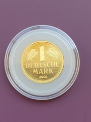 Goldmünze 1 DM Gedenk-Goldmünze 2001
