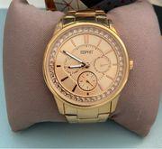 Rosegoldfarbene Esprit Armbanduhr