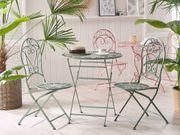 Gartentisch grün Metall 70 cm
