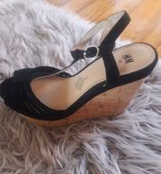 Schuhe Gr 37 schwarz Riehmchenschuh