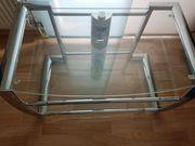 TV bank aus Glas