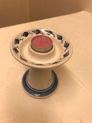 Keramik Kerzenständer handgemalt