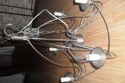 Kronenleuchter Metallleuchte Deckenlampe Silber Farben