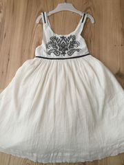 Mädchen Kleid Sommerkleid Trägerkleid Stickerei