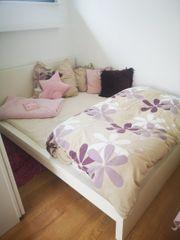 Ikea Bett weiß 140x200 komplett