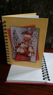 Spiral Notizbuch Weihnachtsmann Motiv
