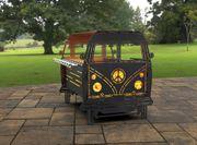Feuertonne Grillstelle inkl Grillplatte - Retro-Bus