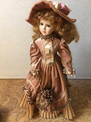 Nostalgie Porzellan Puppe 55 cm
