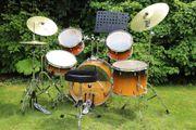 Kaum benutzt BasiX Schlagzeug Custom