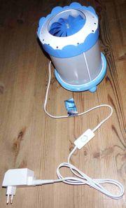 Trousselier-Lampe mit sich drehendem Unterwassermotiv