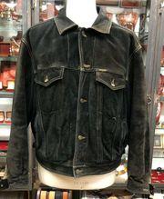 Vintage Nubuk Wild Leder Jacke
