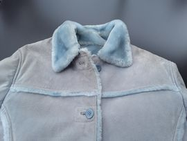 Bild 4 - Ausgefallene Damen Wildlederjacke mit hellblauen - Herzogenaurach