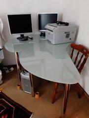 Schreibtische aus Glas