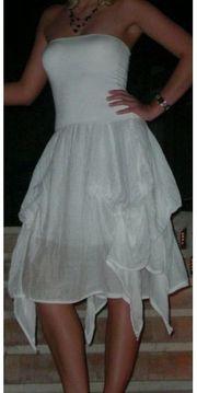 Leichtes Sommerkleid Gr 36 weiß