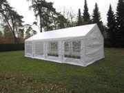 Partyzelt Gartenzelt 4x8m weiß mit