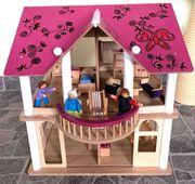 großes Holz-Puppenhaus von Eichhorn mit
