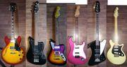 Diverse gebrauchte Gitarren und Bässe
