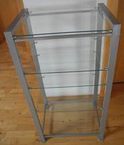 Regal Metall mit 5 Glasböden