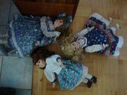 3 Puppen Künstlerpuppen aus Nachlass