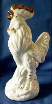 Hahn - schlicht gearbeitete schöne Porzellanfigur