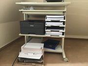 Druckertisch PC Tisch weiß auf