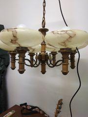 Decken Lampe Leuchte 6-armig 50er
