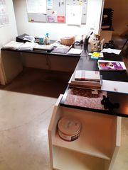 Eck-Holzschreibtisch Tischlerarbeit
