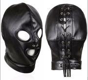 Gesichtsmaske Schwarz Maske Schnur Verschluss
