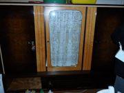 Vitrine Schrankwand Holzschrank mit Vitrine