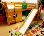 Kinder Hochbett mit Rutsche Thuka
