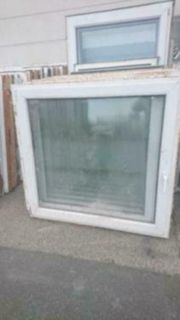 3 Kunststoff Fenster 136 cm