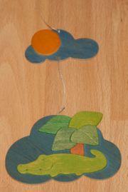 Buntes Holz - Mobile - ca 19 cm