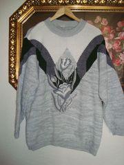Vintage Pullover mit Blütenstickerei Gr