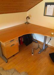 Höhenverstellbarer Schreibtisch IKEA Galant in