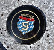 Oldtimer Glas PKW Emblem Schriftzug