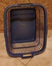 Wäsche Korb blau aus der