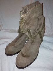 braune Damen Stiefelletten Wildleder größe