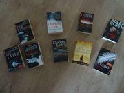Buch verschiedene spannende Bücher Thriller