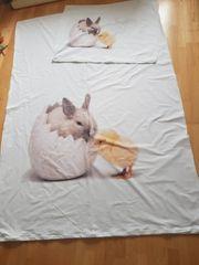 Bettwäsche Küken und Hase