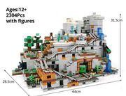 Lepin Minecraft Mountain Cave Groß