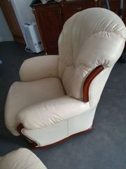 Couchgarnitur Sofa 3 teilig Echt