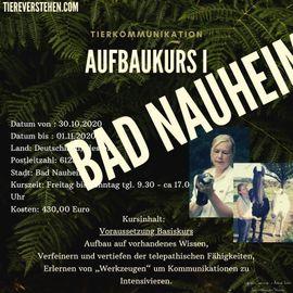 Tierkommunikation lernen,Monika Jaeger, Aufbau1, Bad Nauheim03/21