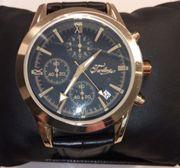 Armbanduhr Chronograph gold schwarz