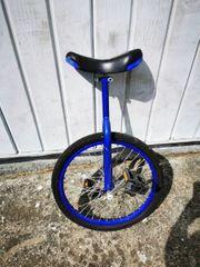 Einrad blau Höhe verstellbar