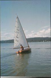 Oldtimer - Holz - Segelboot Finn-Dinghy G 332