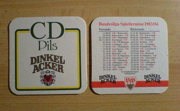 Bierdeckel Dinkelacker Pils VfB Bundesliga