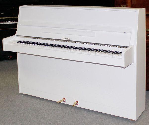 Klavier Hohner 107 weiß satiniert
