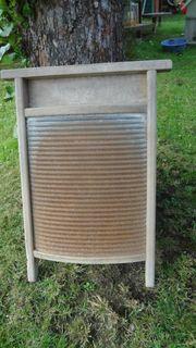 altes Waschbrett Holz Zink