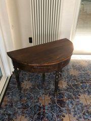 Tisch Konsolentisch rund halbrund