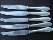versilbertes Besteck 6 Messer 5